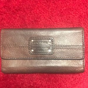 Fossil brand leather wallet